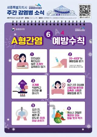 A형간염 예방 홍보 포스터
