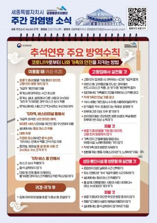 추석연휴 주요방역수칙(37주카드뉴스)